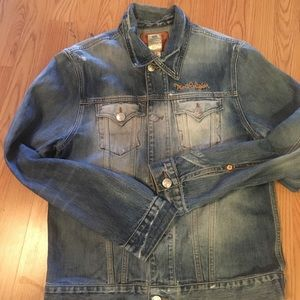 Embroidered mens True Religion Jean Jacket
